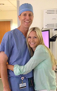 Sherry with her gynecologic oncologist, Dr. Matt McDonald