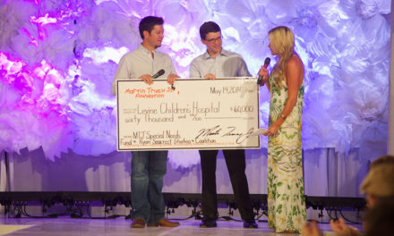 Martin Truex Jr., girlfriend stage fashion show for pediatric cancer