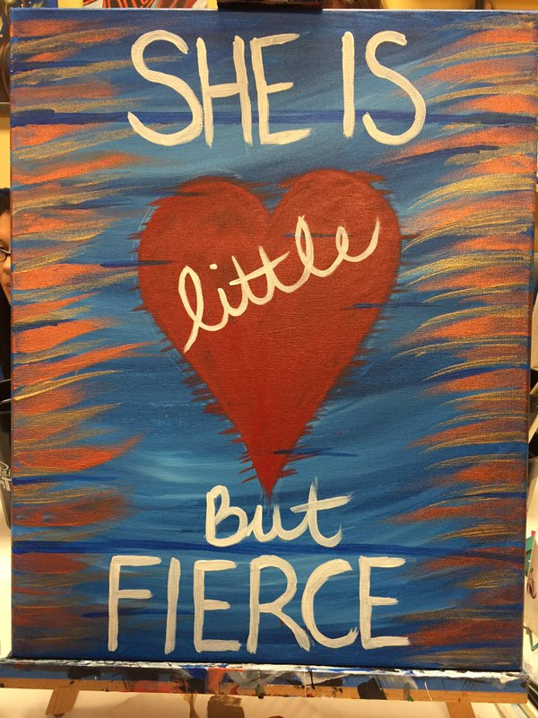 I painted this during a fundraiser at Painting With a Twist in April 2016. We raised more than $1,300!
