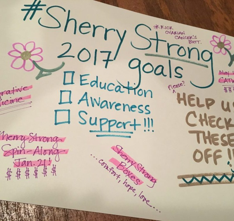 SherryStrong's 6 Goals of 2017