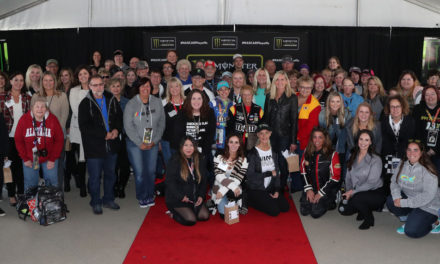 Sherry Pollex teams up with Kansas Speedway for  Beyond the Checkered event and gets a surprise